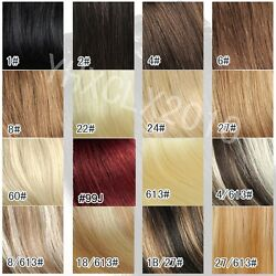7pcsSet 15inch 70g full head clip In 100% remy real  human hair extensions