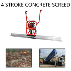New 37.7cc 4 Stroke Gas Concrete Wet Screed Power Screed Cement 6.56ft Board Top