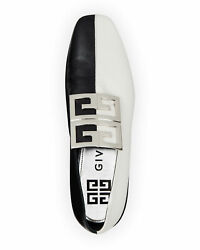 Givenchy Bicolor Leather High-vamp Loafer With 4g Logo Shoes Sz 38.5 Msrp 895