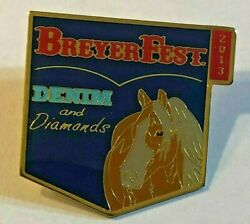 Breyer Breyerfest 2013 Denim and Diamonds Metal Collector Pin New In Package