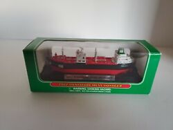 2002 Miniature Hess Voyager 7.25 In Long Model Ship With Display Stand