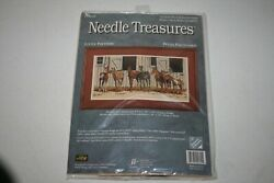 Needle Treasures Little Partners Horse Stable Counted Cross Stitch Kit 04621 Usa