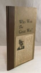 Antique Ww1 Book Who Won The Great War Submarine Hinsdale Delt Edwards 1921