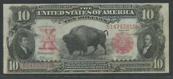 Fr116 10 1901 L.t. Bison Note Choice Vf Only 275 Recorded Wlm8825
