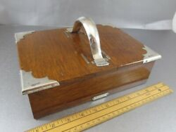Huge Arts And Crafts Sterling And Oak Double Cigar Box London 1915. Mappin And Webb