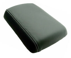 Fit 05-12 Nissan Pathfinder Real Leather Gray Sttch Center Console Armrest Cover