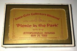 Sealed 1988 Coca-cola Picnic In The Park 47/144 Playing Cards Vhtf Low Number