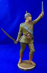 German Germany Wwi Ww1 R. Bellair And Co. Painted White Metal Officerand039s Figurine