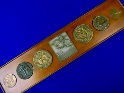 1928 - 36 Scarce Set 7 Table Medal Awarded To Olympic Participant W.b. Bradford