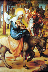 Seven Marys Pain Flight Into Egypt By Durer Artist Painting Oil Canvas Repro