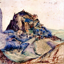 View Of Arco 2 By Durer Artist Painting Handmade Oil Canvas Repro Wall Art Deco