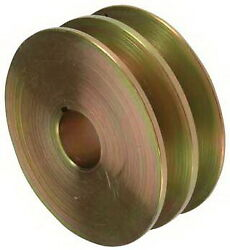 Pulley, 2-grooves, 0.87/22.2mm Id, 3.23/82mm Od, Fits,leece Neville/74615