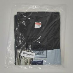 Supreme Fw19 Banner Tee Black Graphic T-shirt Classic Cotton Menand039s Size L Large
