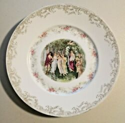 Very Rare Antique Hand Painted Rosenthal Porcelain Plate For Collectors 1920