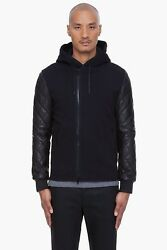 Givenchy Black Quilted Lambskin Leather Hooded Jacket - Size Eu 50