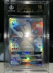 0.0005% Chance Per Pack Pull Rate Hidden Fates BGS 10 Shiny Charizard SV49