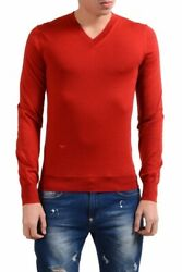 Christian Dior Menand039s 100 Wool Red V-neck Sweater Size S M L