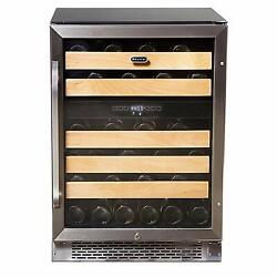 Whynter 46 Bottle Wine Refrigerator Dual Temperature Zone Built-in New