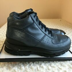 NIKE ACG AIR Max  Men Shoes 11.5 Navy  All Climate Leather Ankle Boots High Top