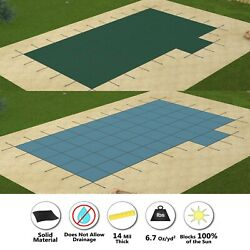 Gli Valuex Solid Swimming Pool Safety Cover W/ Drain And 1and039 Right Offset Step