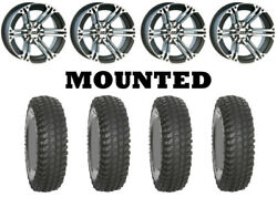 Kit 4 System 3 Xcr350 Tires 35x10-15 On Itp Ss212 Machined Wheels Irs