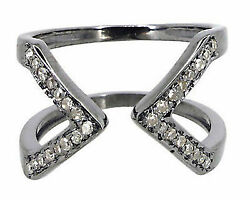 Amazing Victorian Inspired 0.35Ct. Rose Cut 925 Sterling Silver Diamond Ring IA8