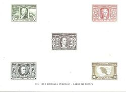 U.s, 1904 Louisiana Purchase Large Die Voncorp 103 Reproductions 10x7 Card