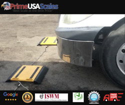 Optima Op-928 Axle Scale Portable Wheel Weigher Truck Scale 2 Pads 50000 Lb