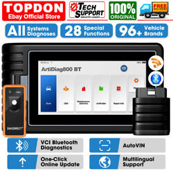 Topdon Artidiag800bt Obd2 Full System Diagnostic Scanner Tool Immo Tpms Autovin