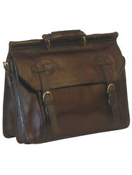 Scully Overnight Leather Work Bag Chocolate 164-07-25-f