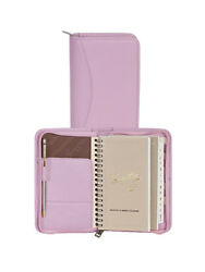 Scully Leather Soft Lamb Zip Pocket Planner Pink 5008z-01-36-f