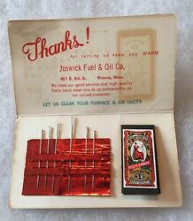 Winona Minnesota Joswick Fuel And Oil Co Needle Kit Furnace Air Ducts Old ...
