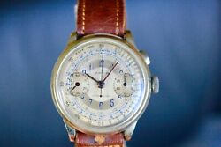 VERY RARE MILITARY VINTAGE MONOPUSHER MAXIM CHRONOGRAPH VALJOUX 22GH SECTOR DIAL