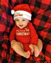 MY First Christmas Baby Boy Girl Romper Bodysuit Jumpsuit Clothes Outfits USA