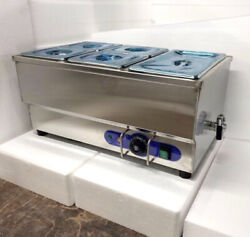 Commercial Restaurant Food Warmer 1pc 1/2 Pan And 4 Pcs 1/4 Pans Electric Heater