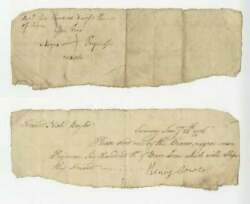 1776 African American Signed Revolutionary War Doc For Slavery