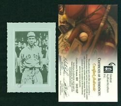 Tris Speaker Signed Antique Photo With Coa From Gai