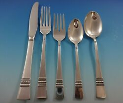 Diadem By Reed And Barton Sterling Silver Flatware Service Set 35 Pc Modern Beaded