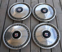 Rare Complete Set 4 Buick 70's Or 80's Wheel Covers Hubcaps Oem Vintage Hub Caps