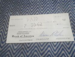 1962 Shelby American Signed Check To Postmaster For Cod Fee On Ford Emblems Rare