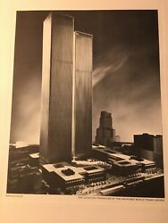 New York City Twin Towers Photo Poster Irving Trust 1966 One Wall Street Posters