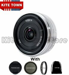 Sony E 16mm F/2.8 Wide-angle Lens Sel16f28 For Sony Nex Alpha Ilce Series Camera