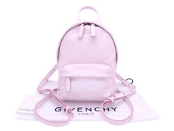 Auth GIVENCHY Backpack Light Pink Leather Silvertone e42444 $765.00