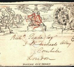 Gb Mulready May Date 10th May 1840 Worcester Mx First Sunday Cat Andpound16000- 820d