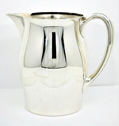 9072- Early 1900 Antique 4pt Sterling Silver Pitcher Wilcox And Wagoner -mono Gwe