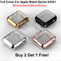 For Apple Watch 4 3 2 1 TPU Case Cover Screen Protector iWatch 38 42mm 40 44mm $5.99