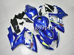 Blue Abs Injection Fairing Kit Fit For Gsxr600 Gsxr750 2006 2007 Full Tank Cover