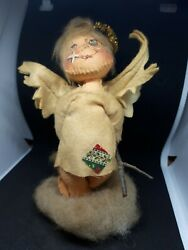 Vintage 1957 Autographed Annalee Doll Angel With Wings And Black Eye