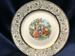 Royal China Usa Plate 7 1/4 Colonial Courting Couple People Gold Filigree