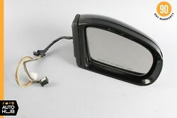 01-04 Mercedes W203 C230 C32 Amg Right Side Rear View Door Mirror Black Oem